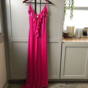 Like New Cache Pink Spandex Formal Gown